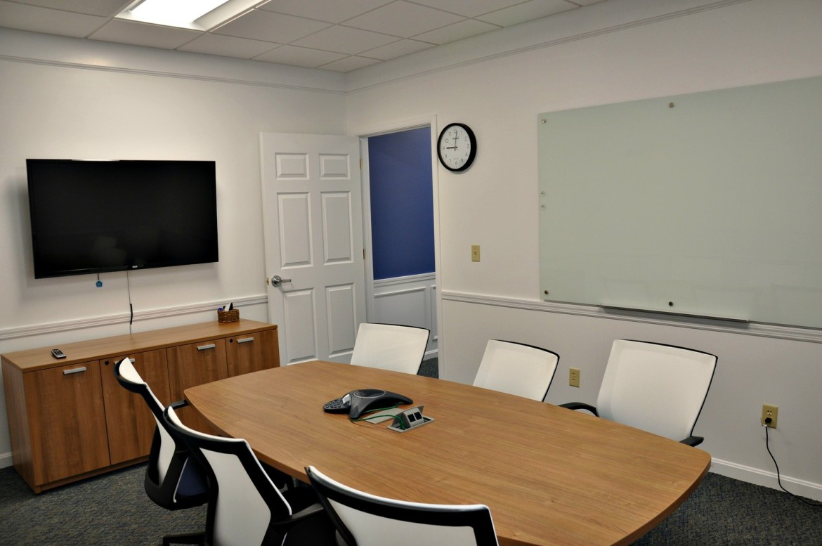 This conference room is among the varied workspace options available at Clearly Coworking.