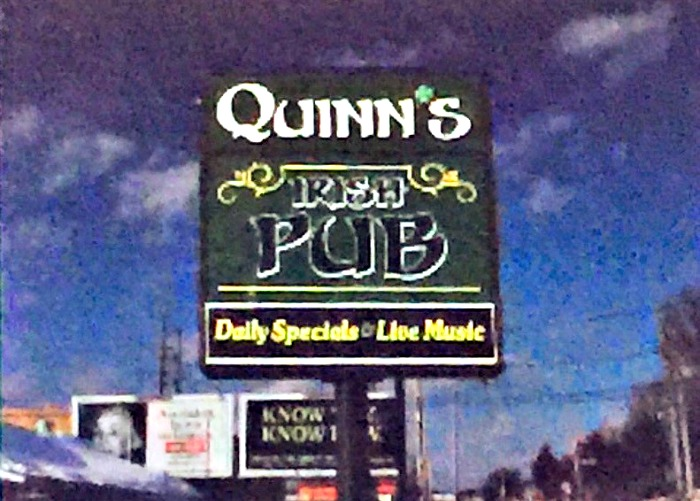 An artist rendering of the sign that will invite Greendale folks into the soon-to-open Quinn's Irish Pub.