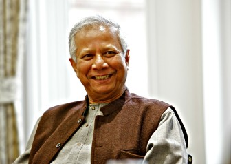 Prof. Muhammad Yunus, who spoke recently at Mechanics Hall, is a recipient of the U.S. Presidential Medal of Freedom and the Congressional Gold Medal