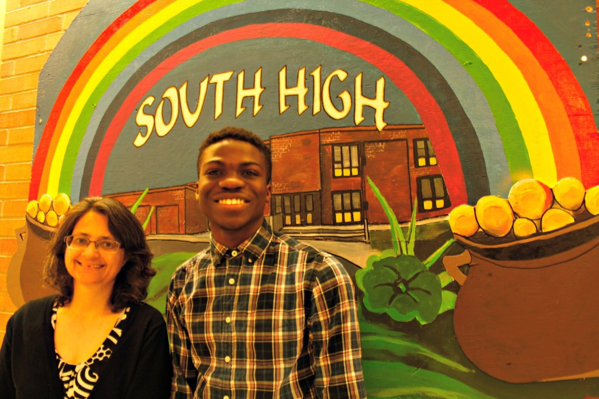 South High teacher Tara Vaidya will be honored at a statewide ceremony for her work with AP students like Kenneth Adusei.