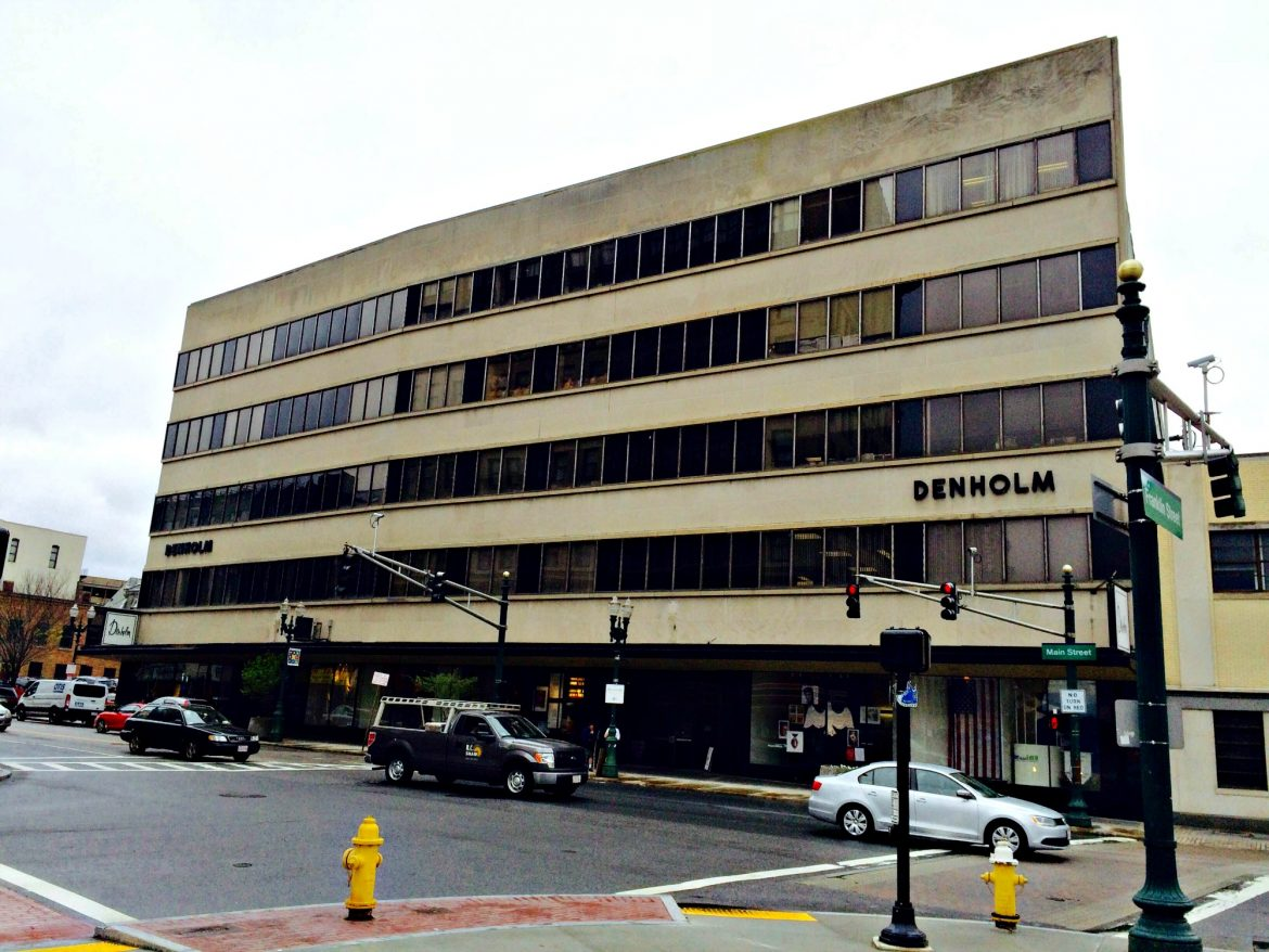 The first floor of the Denholm Building is being targeted by the WRA downtown renewal initiative.