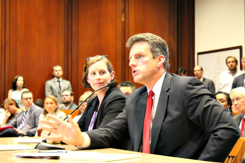 Housing and Economic Development Secretary Jay Ash testified June 21 before the House Bonding Committee where a revised version of Gov. Charlie Baker's economic development bill is under review.