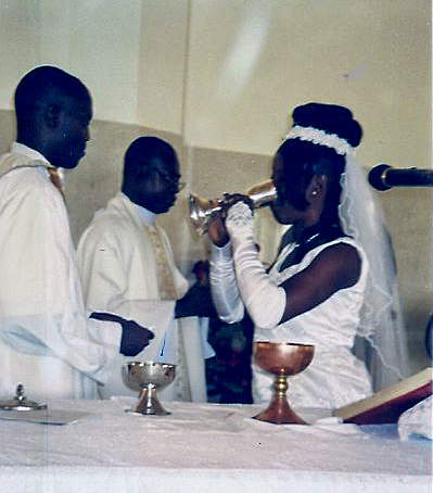 Augustine and Theresa get married.
