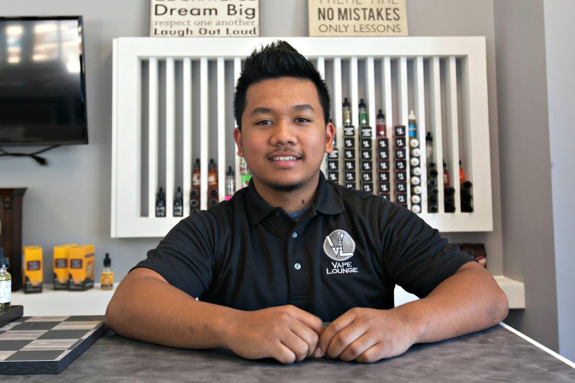 Vu Huynh, owner of Vape Lounge on Shrewsbury Street