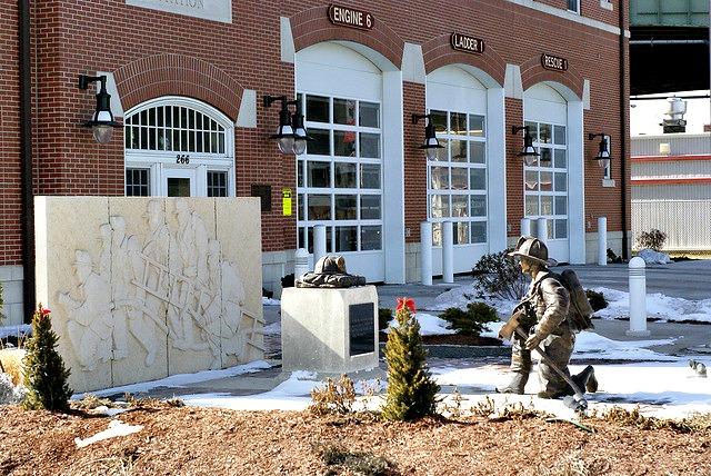 The Worcester Cold Storage fire in December 1999 -- for which this memorial was built at the Franklin Street Station -- was a harrowing event for all involved, including then-Mayor Mariano.