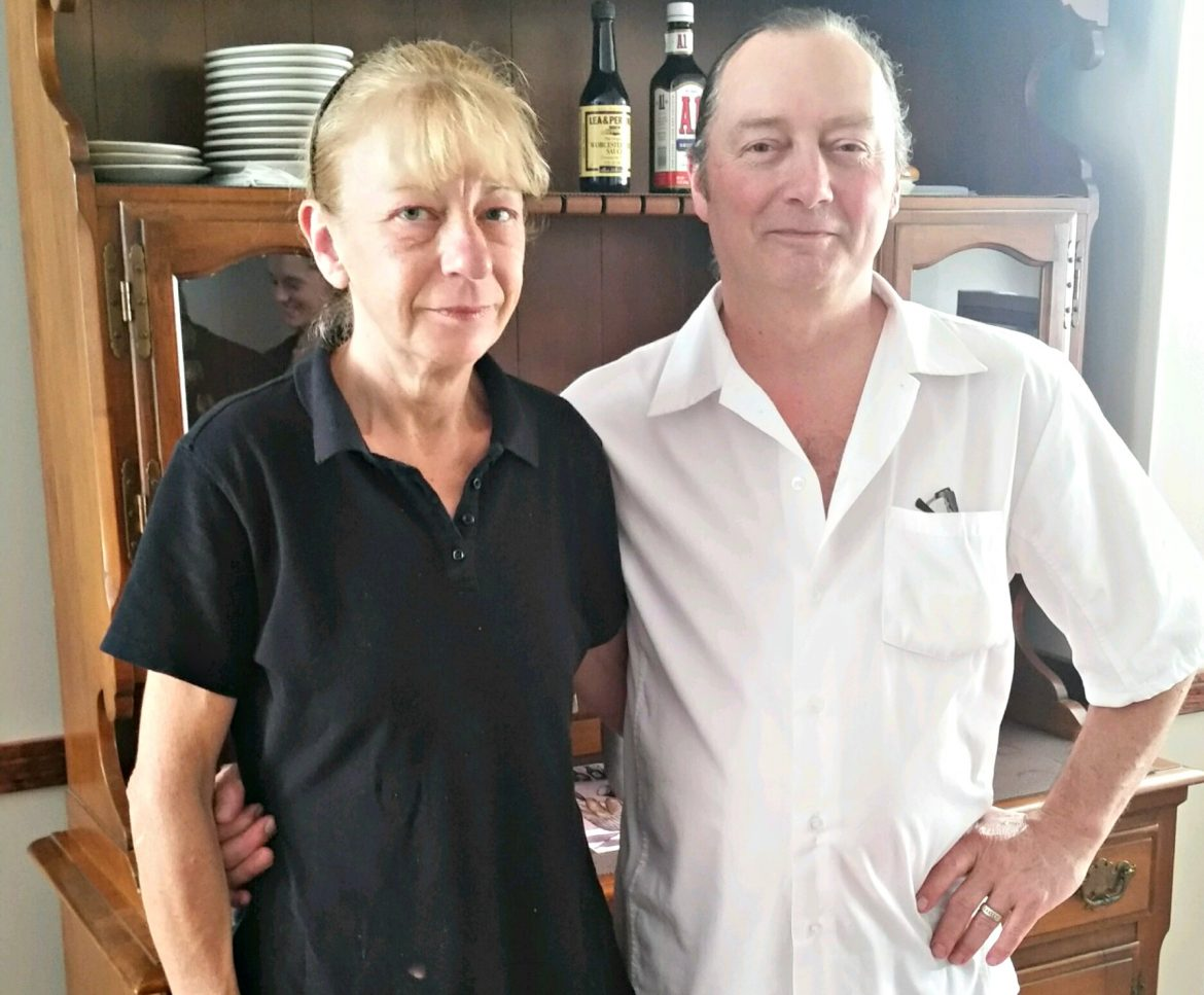 The husband and wife team behind Dianna's Neighborhood Bistro, Richard and Diane George. They celebrated their 14th wedding anniversary July 14.