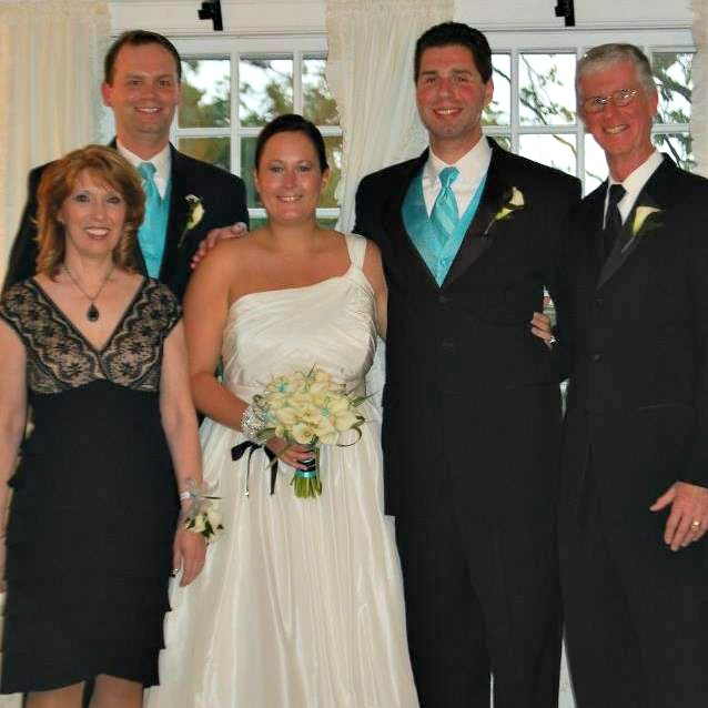 Pat and Courtney's wedding day