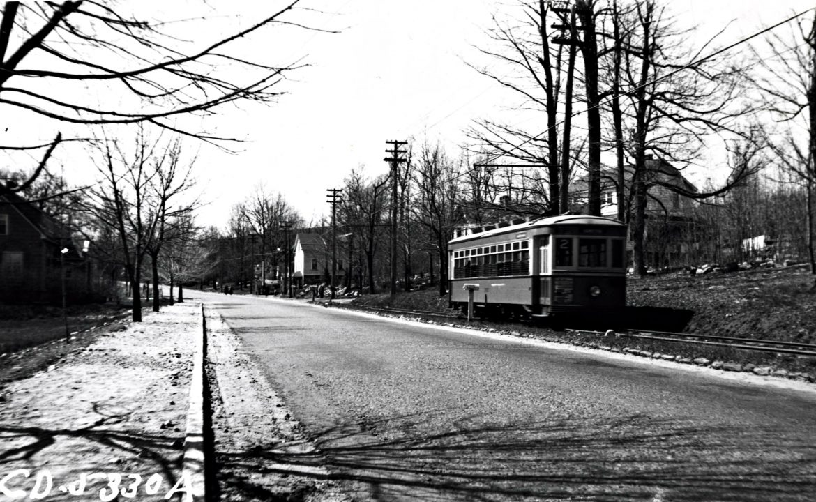 The Tatnuck line near Prouty Lane, 1937