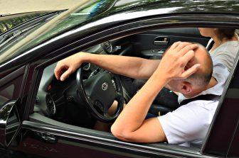 Heading for a cookout on the Fourth of July -- keep your eyes ahead and leave the road rage at home.