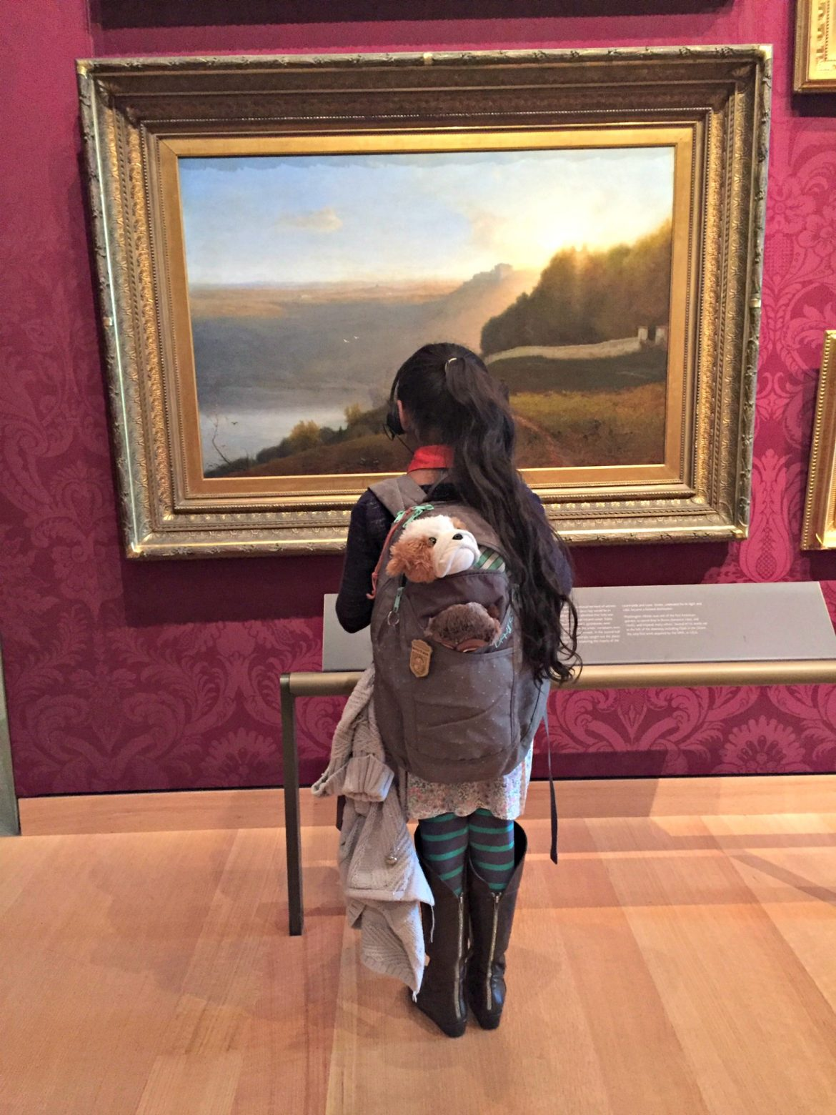 Brooklyn at the museum.