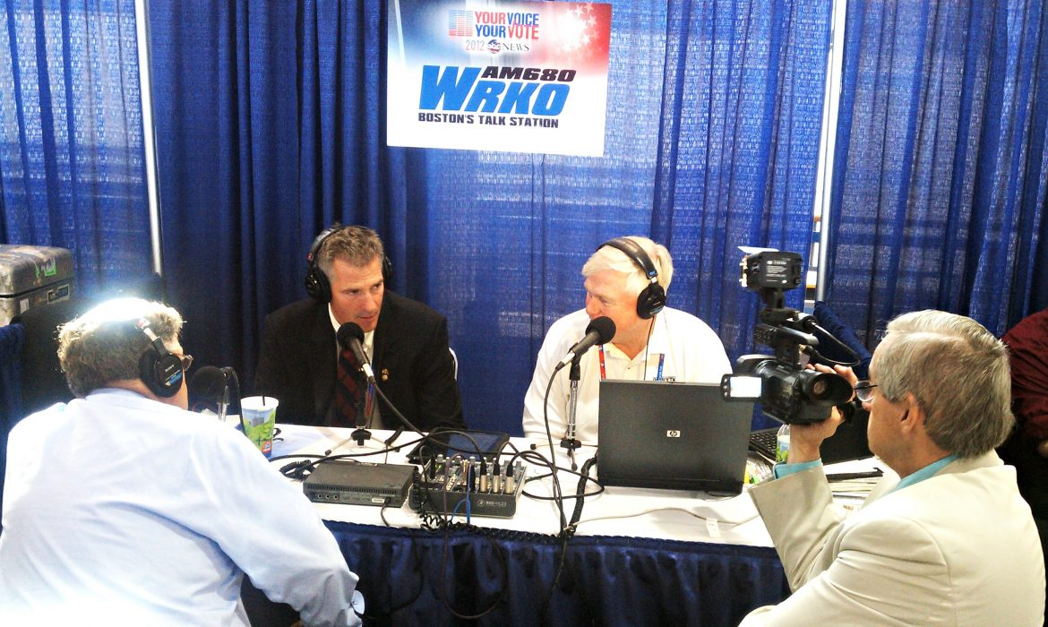 Then-U.S. Sen. Scott Brown talks to WRKO's Howie Carr in a 2012 radio interview. No longer a senator, Brown today faces different questions.