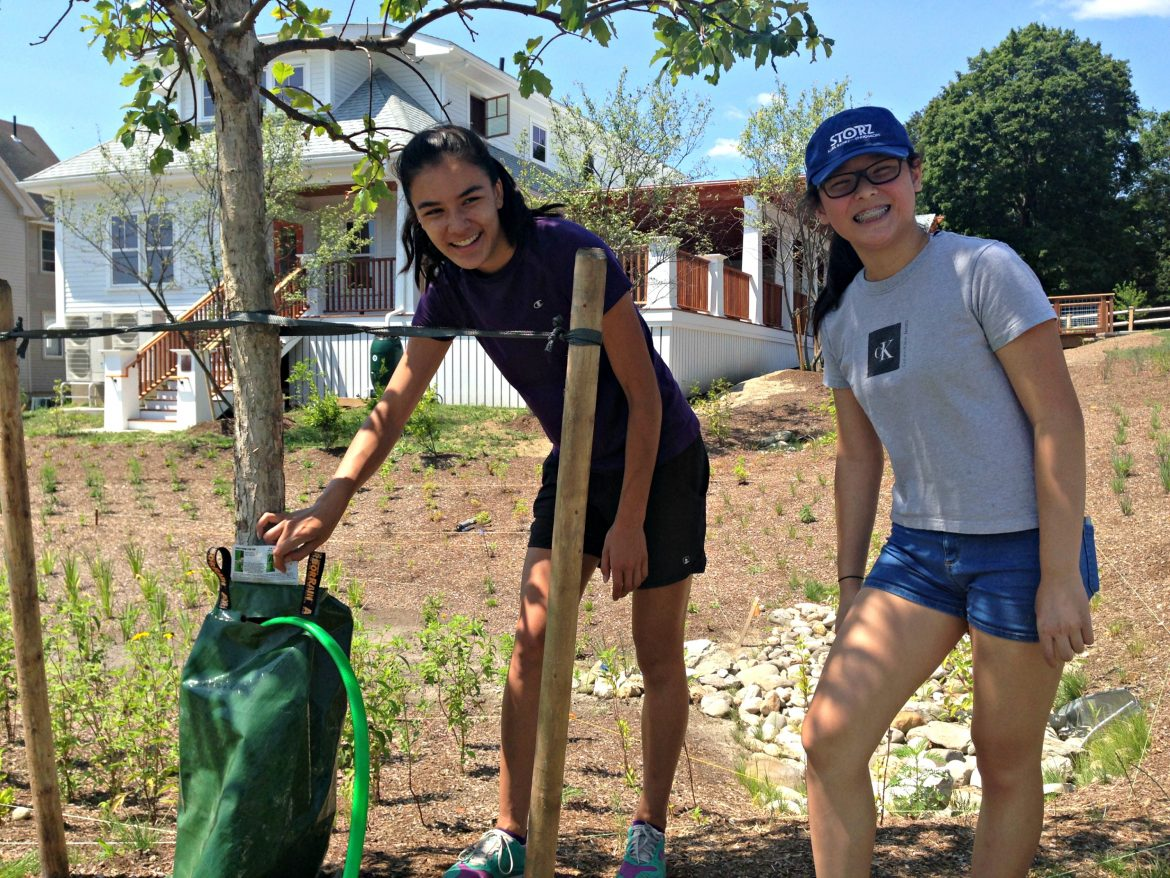Haley Fong, left, and Karmen Diep were among the recent Wednesday volunteers.