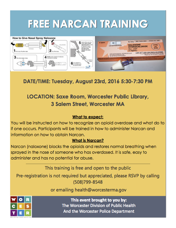Aug 14-Narcan Training