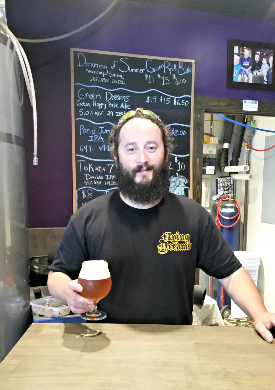 Dave Richardson, founder of Flying Dreams brewery and award-winning brew master.