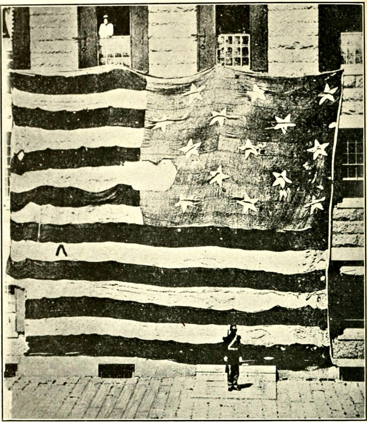 The American flag that flew over Fort McHenry during a battle of the War of 1812 and inspired the national anthem.