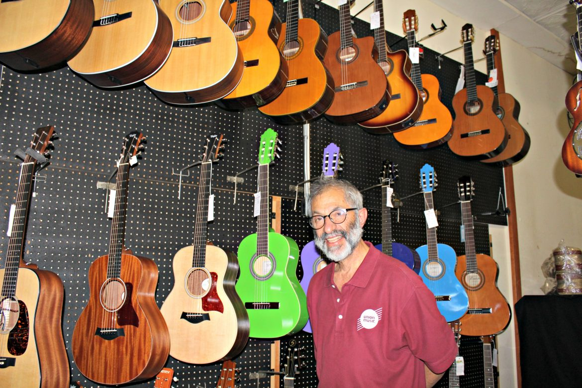 Carl Kamp, owner and legacy at Union Music, a business in the city for more than 100 years.