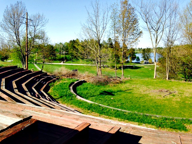 The Forum Theatre amphitheater is no more at Green Hill Park.