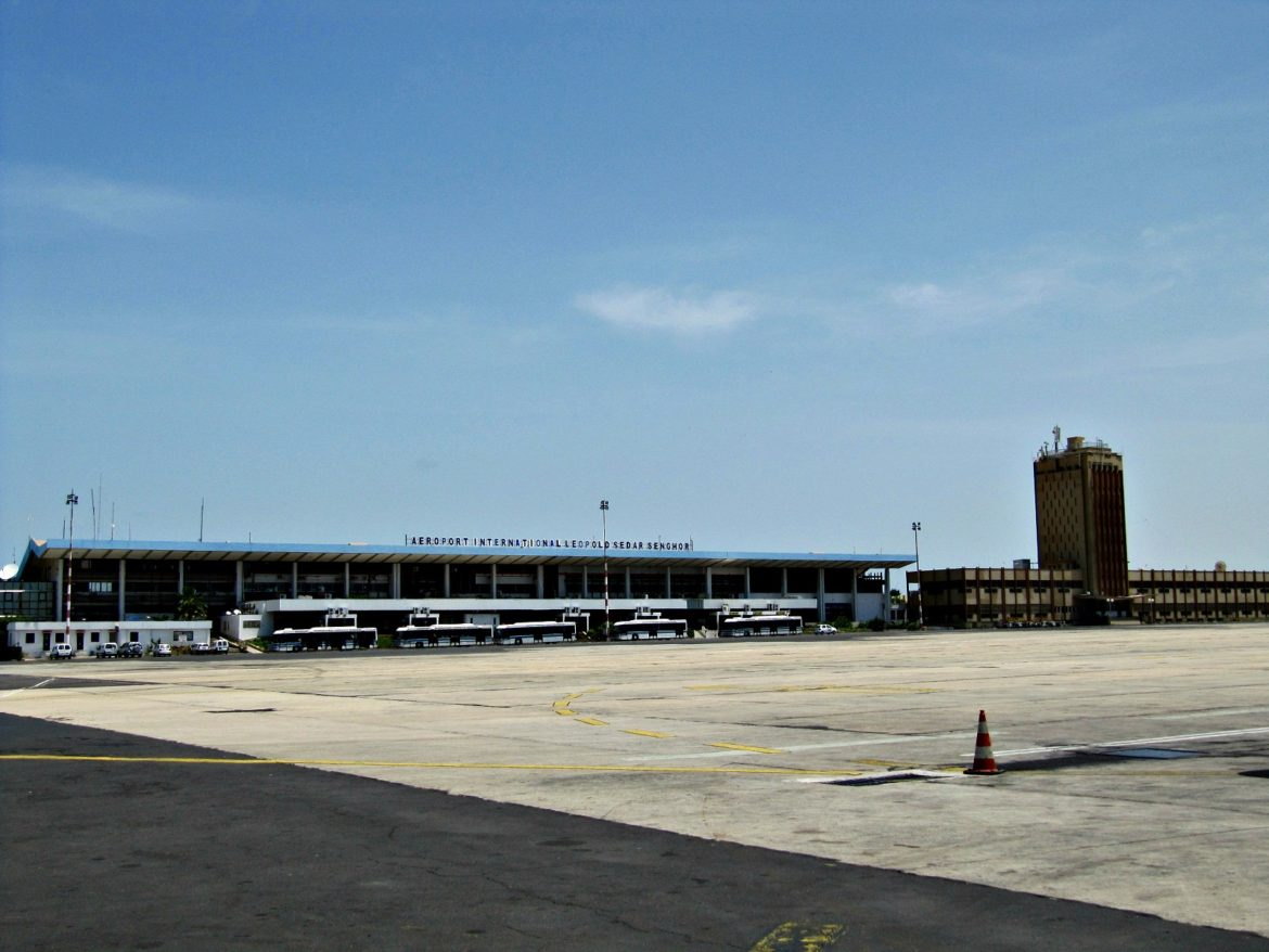 Leopold Sedar Senghor International Airport in Dakar, Senegal.