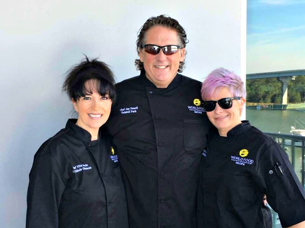 Chef Jay Powell, center, and his teammates at the recent 2016 World Food Championships in Alabama.
